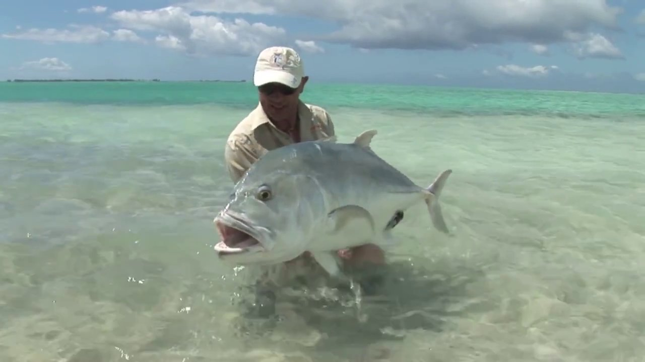Fly Fishing For Giant Trevally On Christmas Island