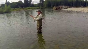 Salmon Fishing on th Kalum Rivers in Canada